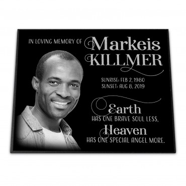 """12x10x¾"""" Grave Marker, Temporary or Permanent, Personalized"""