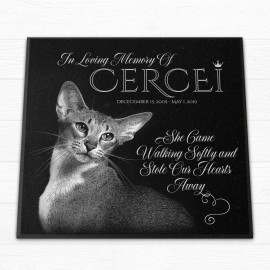 "Personalized 12x12x¾"" Pet Monument"
