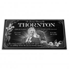 """24x12x¾"""" Headstone, Companion Flat Grave Marker"""