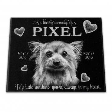 "Personalized 12x10x¾"" Pet Monument"