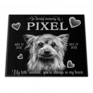 "Personalized 12x10x¾"" Pet Monument"