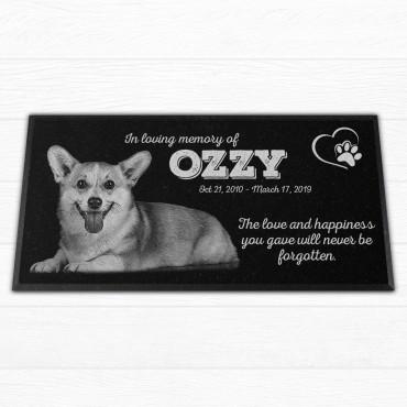 "Personalized 12x6x¾"" Pet Grave Marker"