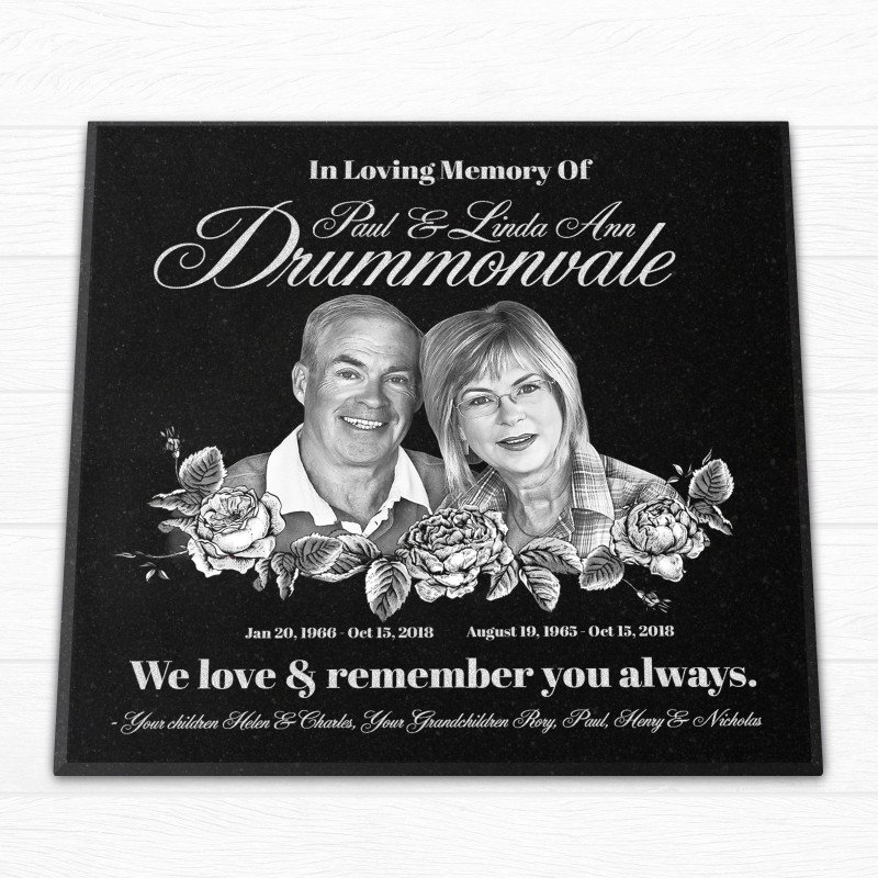 "12x12x¾"" Temporary or Permanent Tombstone, Personalized"
