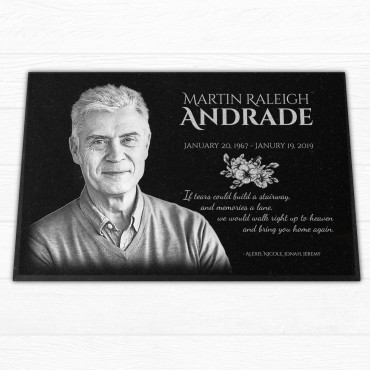 """18x12x¾"""" Human Tombstone, Personalized"""